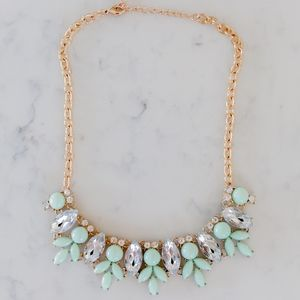 Jewelry - Mint and Gold Statement Necklace